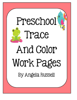 Preschool Trace And Color Work Pages