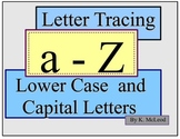 Preschool Tracing Alphabet (Lower Case and Capital Letters)