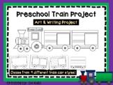 Preschool Train Art Project, Pre K Cut and Color - Cooperative Art