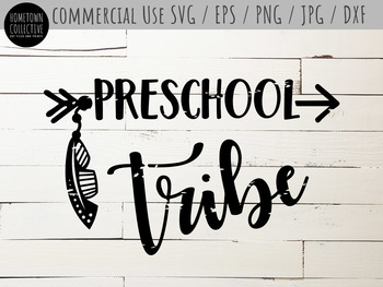 Preschool Tribe Cutting File and Clip Art - SVG, EPS, PNG, JPG, DXF
