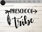 Preschool Tribe Cutting File and Clip Art - SVG, EPS, PNG,