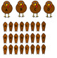 Preschool Turkey Alphabet Match
