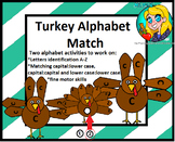 Preschool Turkey Alphabet Match