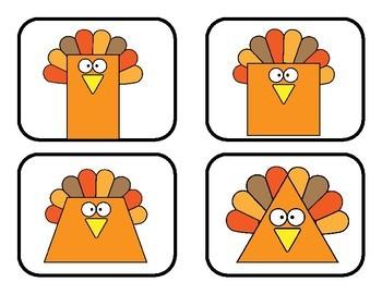 Preschool Turkey Shapes
