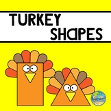 Preschool Turkey Shapes