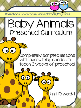 Preschool Unit 10: Baby Animals