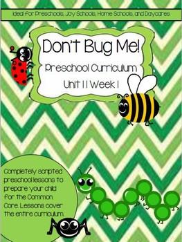 Preschool Unit 11: Don't Bug Me