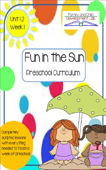 Preschool Unit 12: Fun in the Sun