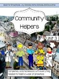 Preschool Unit 3: Community Helpers Jobs Distance Learning