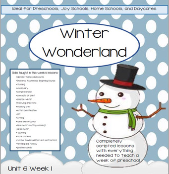 Preschool Unit 6: Winter Wonderland