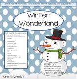 Preschool Unit 6: Winter Wonderland