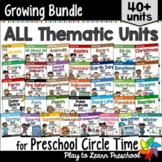 Preschool Units Bundle