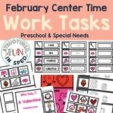 Preschool Valentine Center Activities Task Binder for Pre-K and Special Needs
