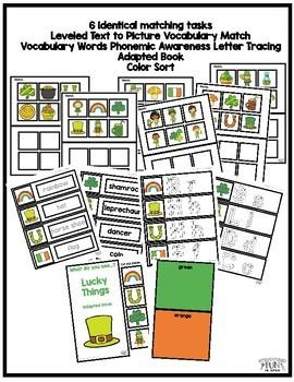 Preschool St. Patrick's Day Center Activities Binder for Pre-K & Special Needs