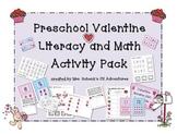 Preschool Valentine Literacy and Math Mega Pack