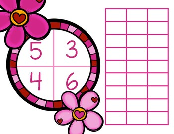 Preschool Valentine Spin and Count Math Game