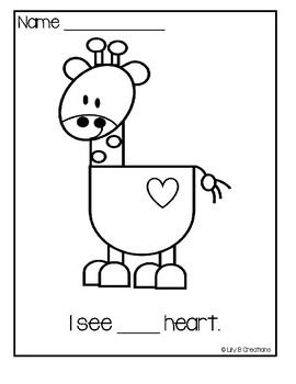 Preschool - Valentine's Count And Color Sheets