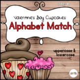 Preschool Valentine's Day Cupcake Letter Match (Uppercase