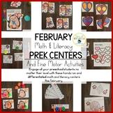 Preschool Valentine's Day February Centers and Fine Motor
