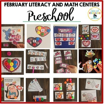 Preschool Valentine's Day February Centers and Fine Motor Activities