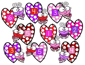 Preschool Valentine's Day Roll and Build Math Game