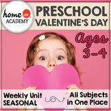 Preschool Valentine's Day - Weekly Unit for Preschool, PreK or Homeschool