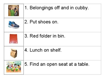 Preschool Visual Arrival Duties