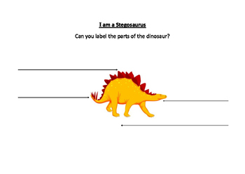 Label Four Parts of a Stegosaurus