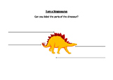 Label Four Parts of a Stegosaurus