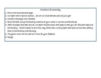 Preschool Vocabulary Flipbook