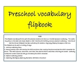 Preschool Vocabulary Flipbook