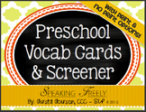 Preschool Vocabulary Cards & Screener