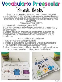 Preschool Vocabulary Smash Books: Spanish Edition