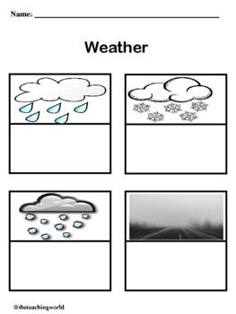 Preschool Weather Activity