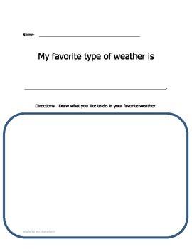 Preschool Weather Worksheets
