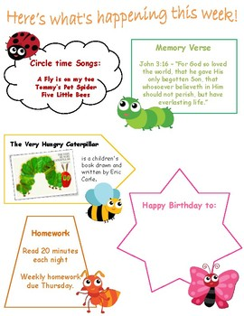 Preschool Weekly Activity Pack