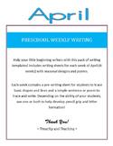 Preschool Weekly Writing - April