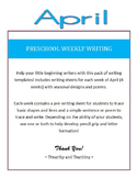 Preschool Weekly Writing - April