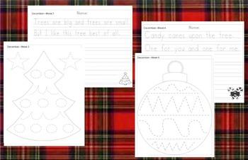 Preschool Weekly Writing - December