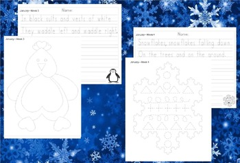 Preschool Weekly Writing - January