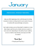 Preschool Weekly Writing - January