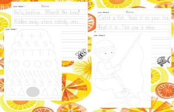 Preschool Weekly Writing - June