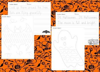 Preschool Weekly Writing - October