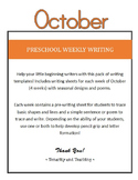 Preschool Weekly Writing - October
