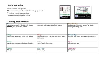 Preschool Welcome To School Week 2 Themed lesson plan