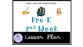 Preschool Welcome To School Week 2 Themed lesson plan