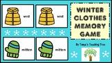 Preschool Winter Clothes Memory Game