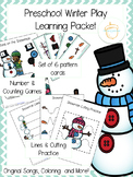Preschool Winter Play Learning Packet