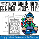 Preschool Winter Theme Printable Worksheets
