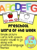 Preschool Word of the Week for Speech Sound Production